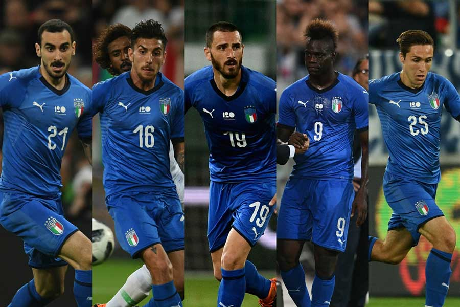 フランス代表との親善試合で先発濃厚なイタリア代表の選手たち【写真:Getty Images】