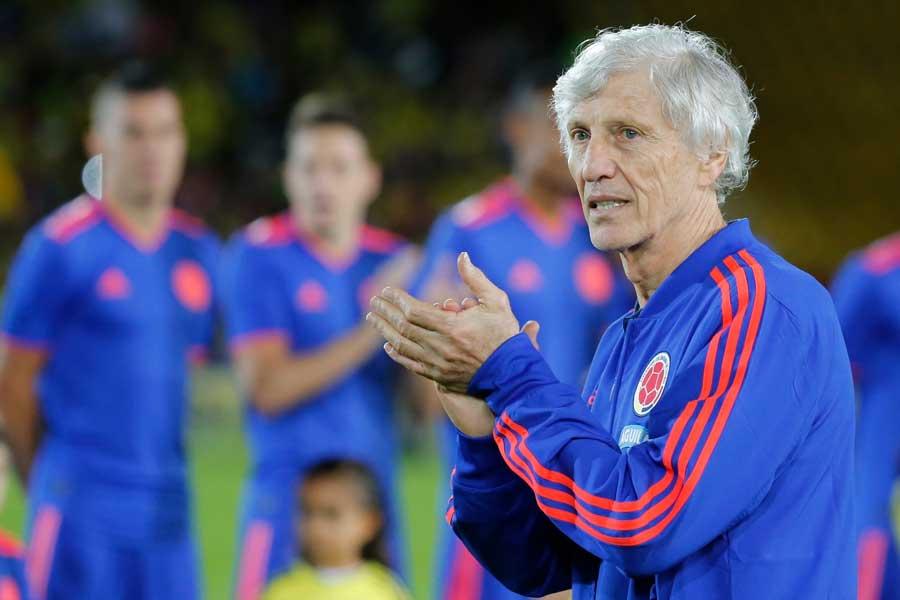 コロンビア代表のぺケルマン監督は、W杯初戦で対戦する西野ジャパンを警戒している【写真:AP】