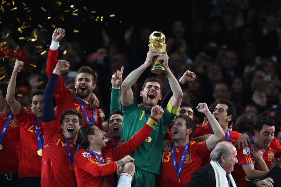 2010年の南アフリカW杯で初優勝を飾ったスペイン代表【写真:Getty Images】