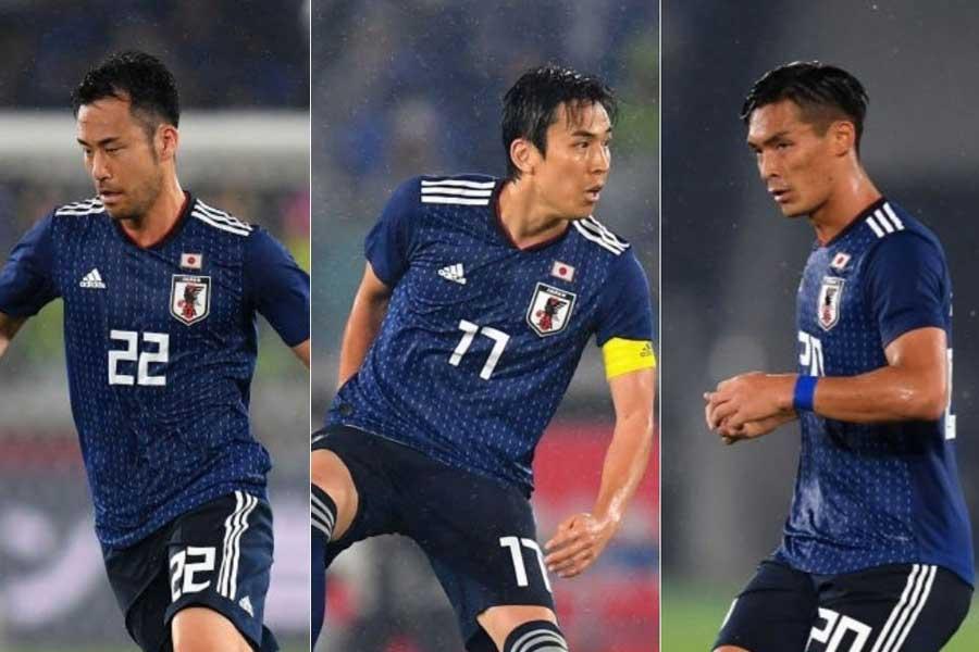 西野監督の初陣となったガーナ戦では(左から)吉田、長谷部、槙野の3バックだった【写真:Getty Images】
