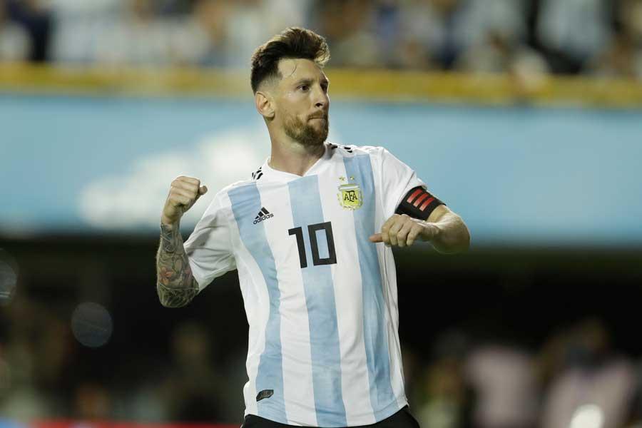 4度目となるワールドカップ(W杯)に挑むメッシ【写真:AP】