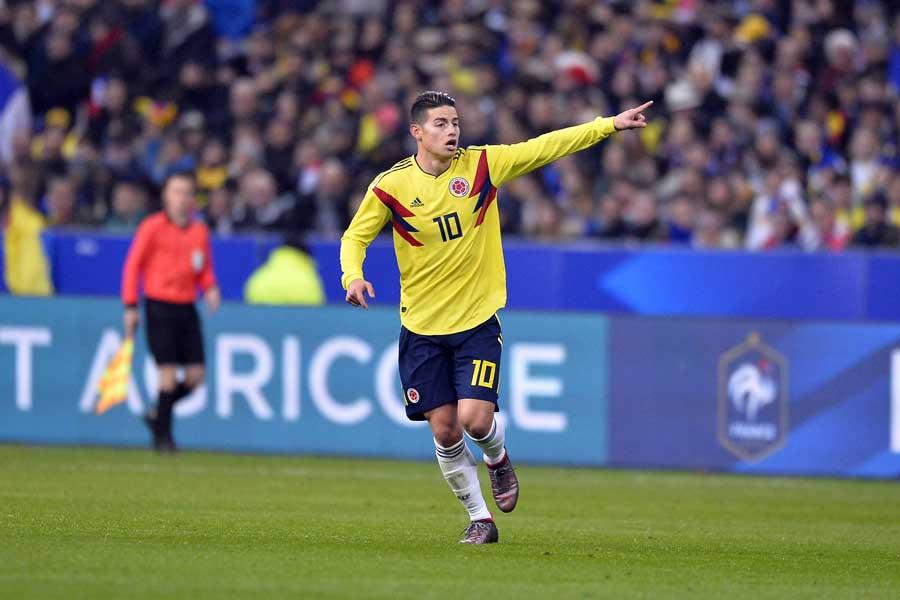 W杯で日本と対戦するコロンビアのエース、ハメス・ロドリゲス【写真:Getty Images】