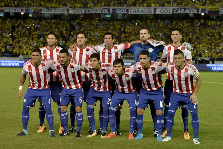 現地時間12日に日本と親善試合を戦うパラグアイ代表【写真:Getty Images】