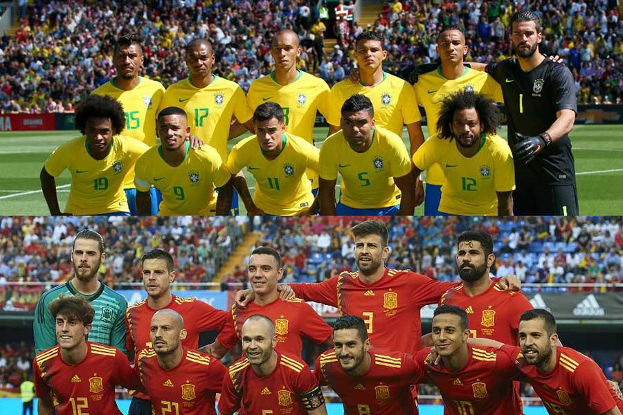 英紙「デイリー・メール」はブラジルとスペインの決勝を予想した【写真:Getty Images】