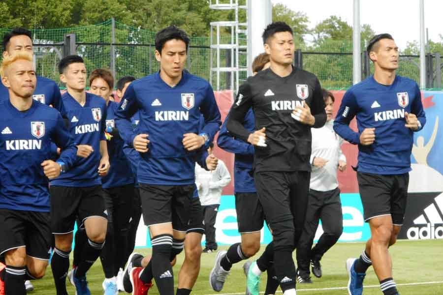 日本代表はW杯に向けて、ロシアのキャンプ地カザンで合宿をスタートさせた【写真:Football ZONE web】