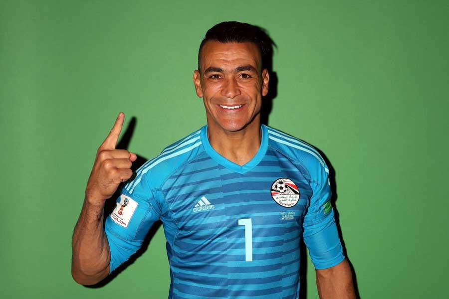 45歳のエジプト代表守護神は、W杯歴代最年長出場記録の更新なるか【写真:Getty Images】