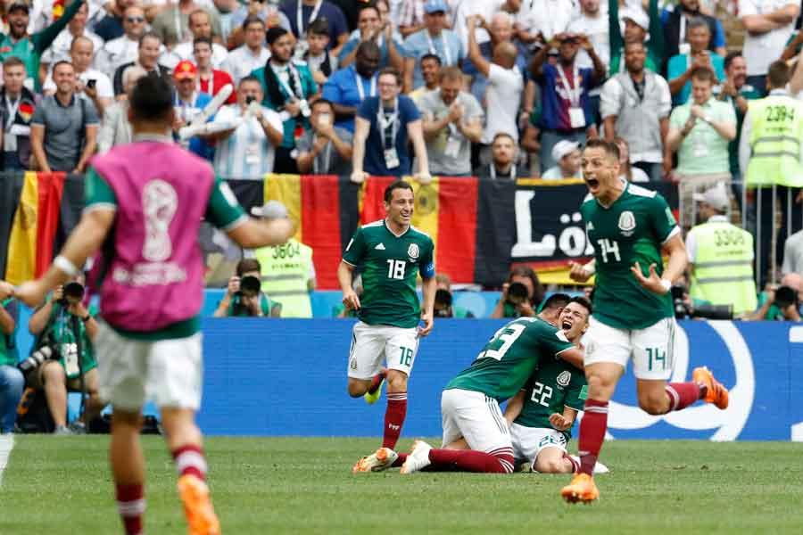 メキシコがドイツから歴史的勝利を挙げた【写真:AP】