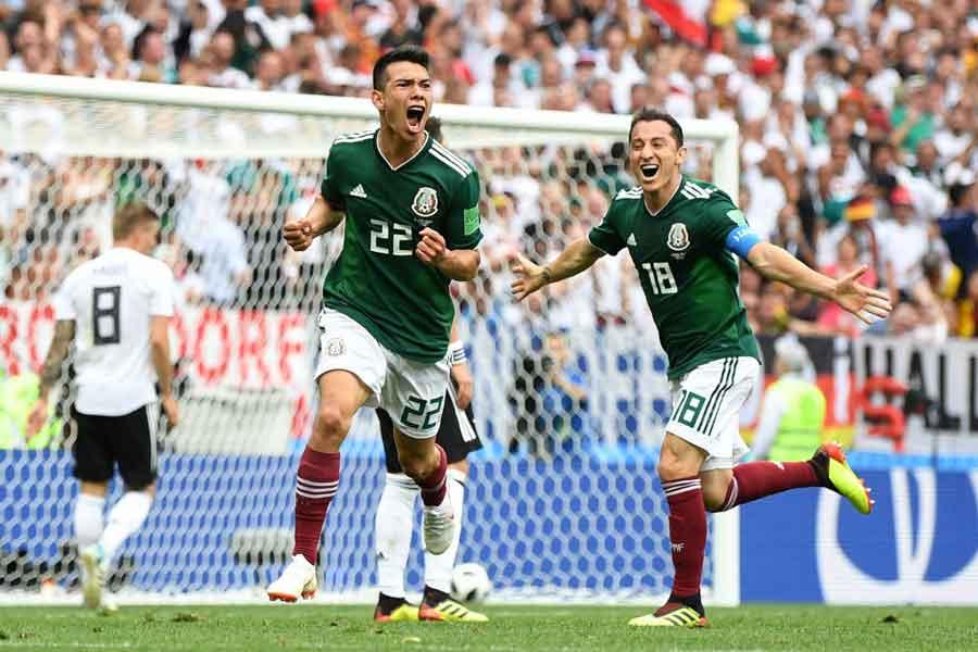 前回王者のドイツは、メキシコに先制を許して後半へ【写真:Getty Images】