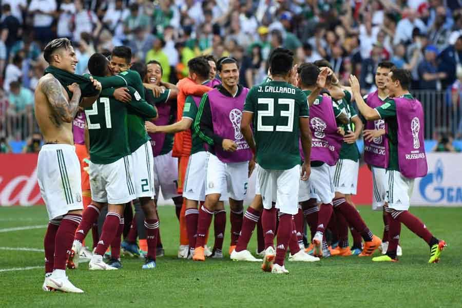 メキシコは、前回王者ドイツから歴史的勝利を収めた【写真:Getty Images】
