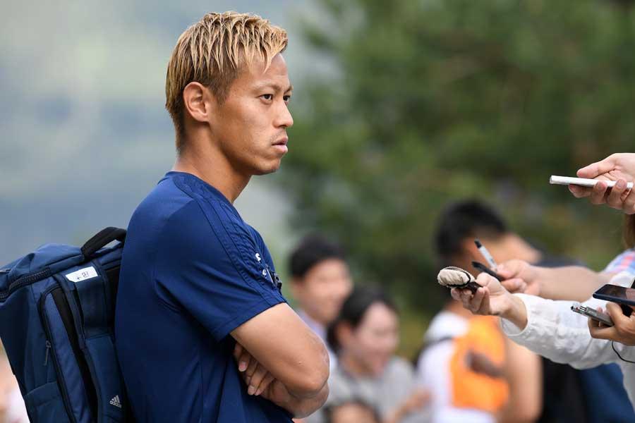 CSKAモスクワでプレーした本田は依然としてロシア国内で高い人気を誇る【写真:Getty Images】