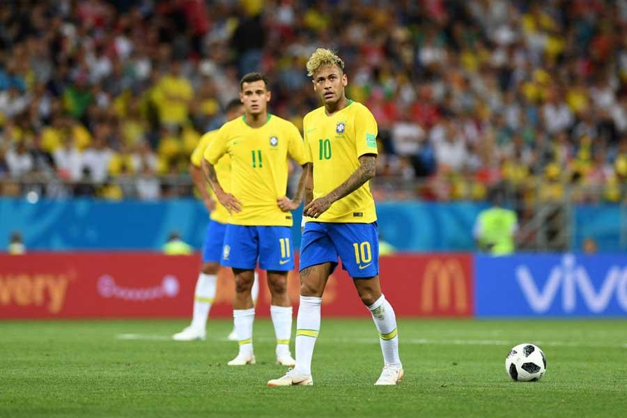 ブラジルは先制するも、スイスと1-1の痛み分けとなった【写真:Getty Images】
