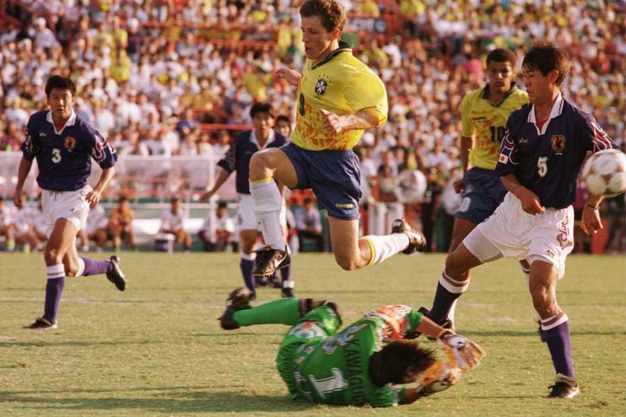 アトランタ五輪のブラジル撃破は、GK川口の奮闘なしには成立しなかった【写真:Getty Images】
