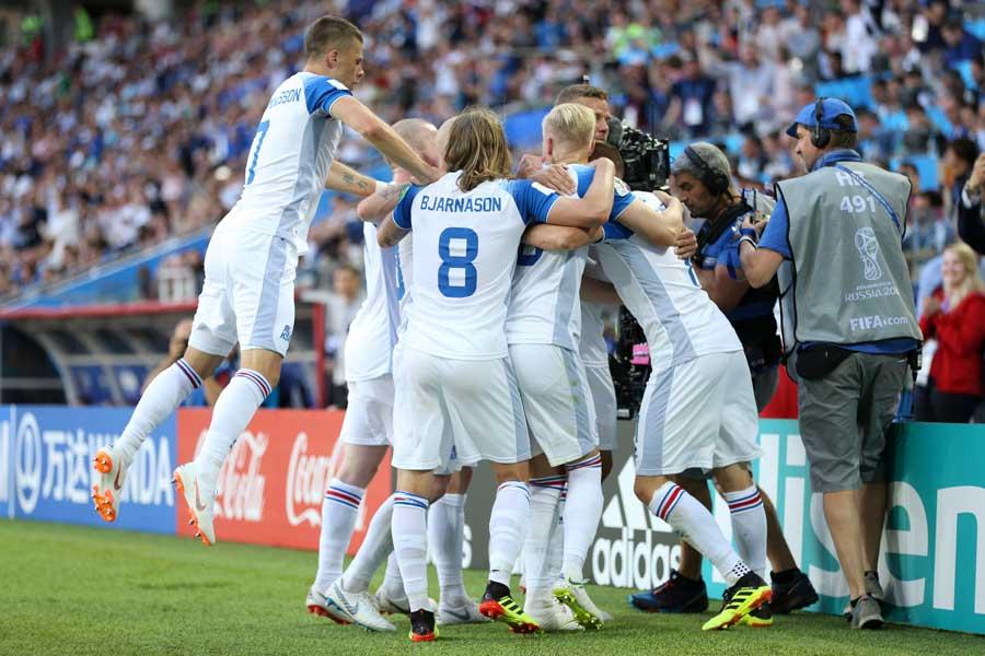 アイスランドはW杯初戦で強豪アルゼンチンと1-1のドローを演じた【写真:Getty Images】