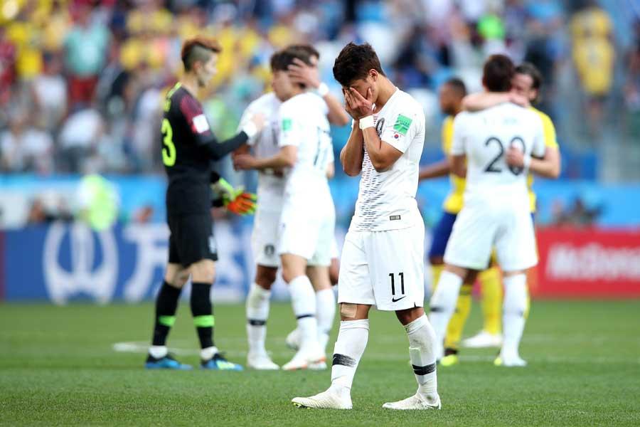 韓国紙がウェーデンに敗戦の自国代表を酷評した【写真:Getty Images】