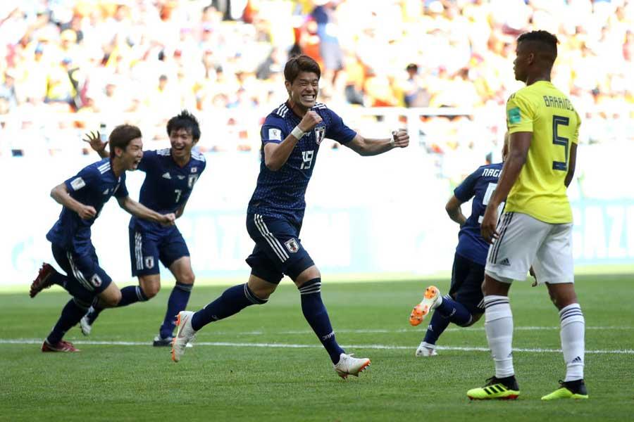 日本の歴史的勝利に、世界中で大きな反響を呼んでいる【写真:Getty Images】