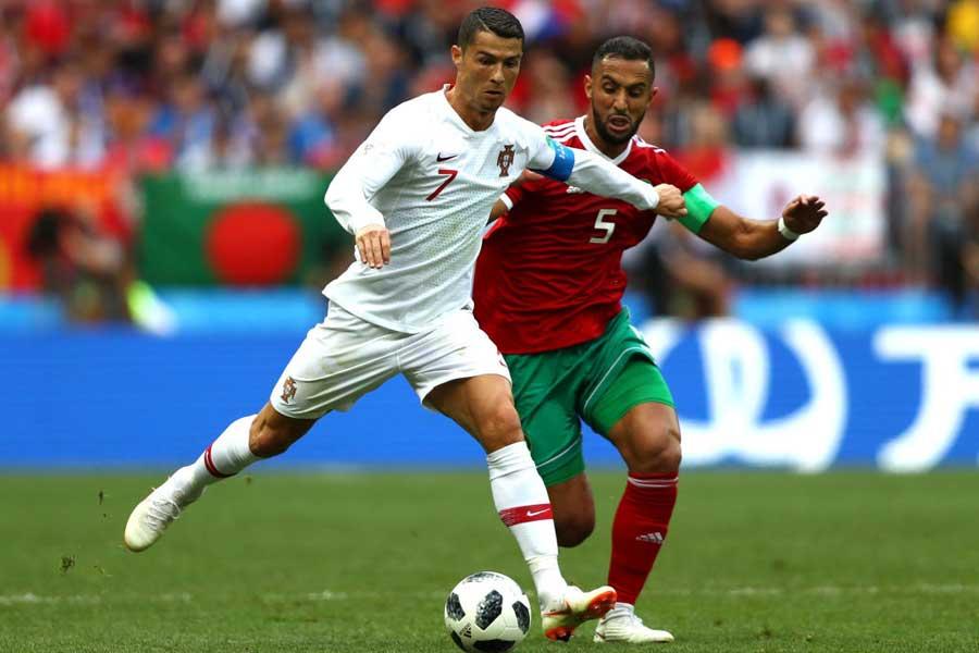 ポルトガルは、モロッコに1-0リードで後半へ【写真:Getty Images】