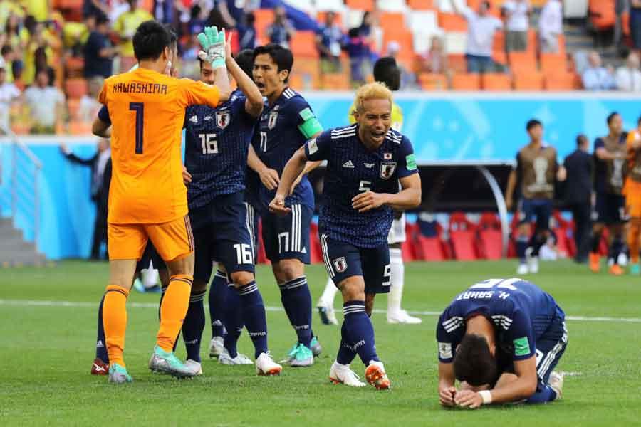 日本がコロンビアを2-1で下した結果について、多くの韓国メディアが称賛している【写真:Getty Images】