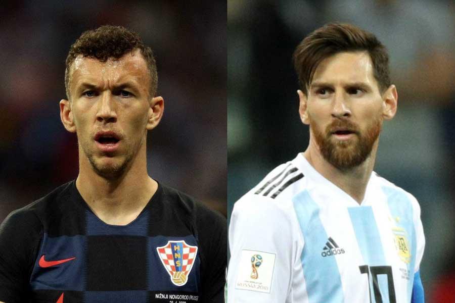ペリシッチ(左)がメッシ(右)に言及【写真:Getty Images】