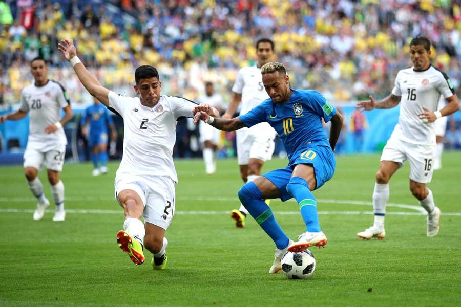 ブラジル対コスタリカは前半を0-0で折り返す【写真:Getty Images】