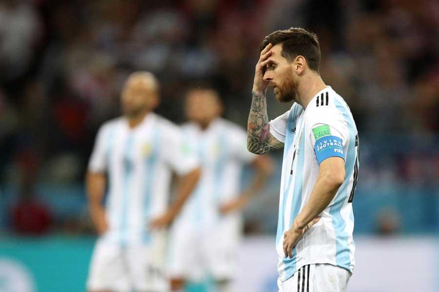 アルゼンチンはクロアチアに敗れ、W杯敗退危機に追い込まれている【写真:Getty Images】