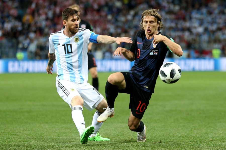 アルゼンチン対クロアチアは0-0で後半へ【写真:Getty Images】