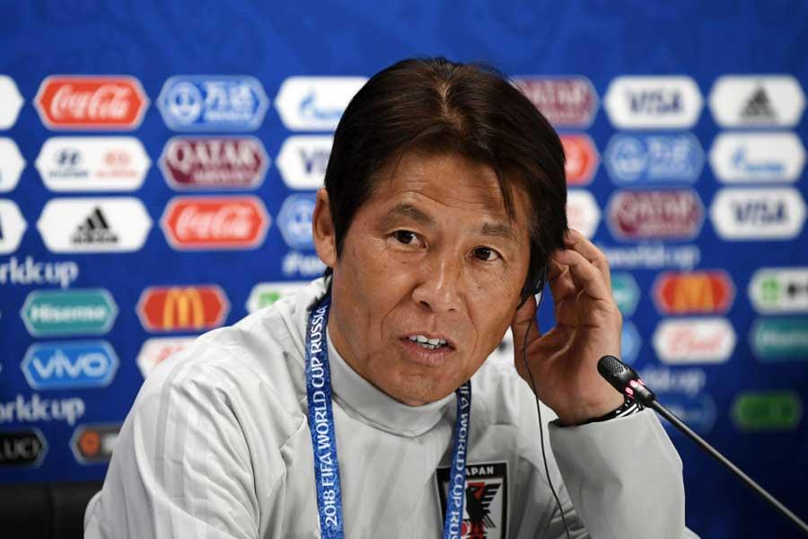 """日本代表の西野監督は、コロンビア戦の勝利は""""必然""""と主張した【写真:Getty Images】"""