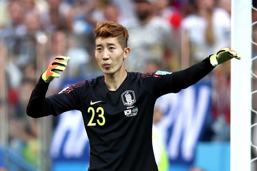 韓国代表GKチョ・ヒョヌは評価がうなぎ上りだ【写真:Getty Images】