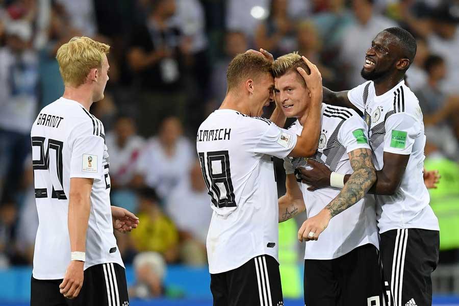 劇的な逆転勝利を飾ったドイツ【写真:Getty Images】