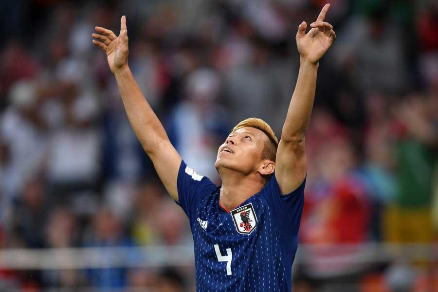 本田は3大会連続で得点とアシストの両方を記録した【写真:Getty Images】