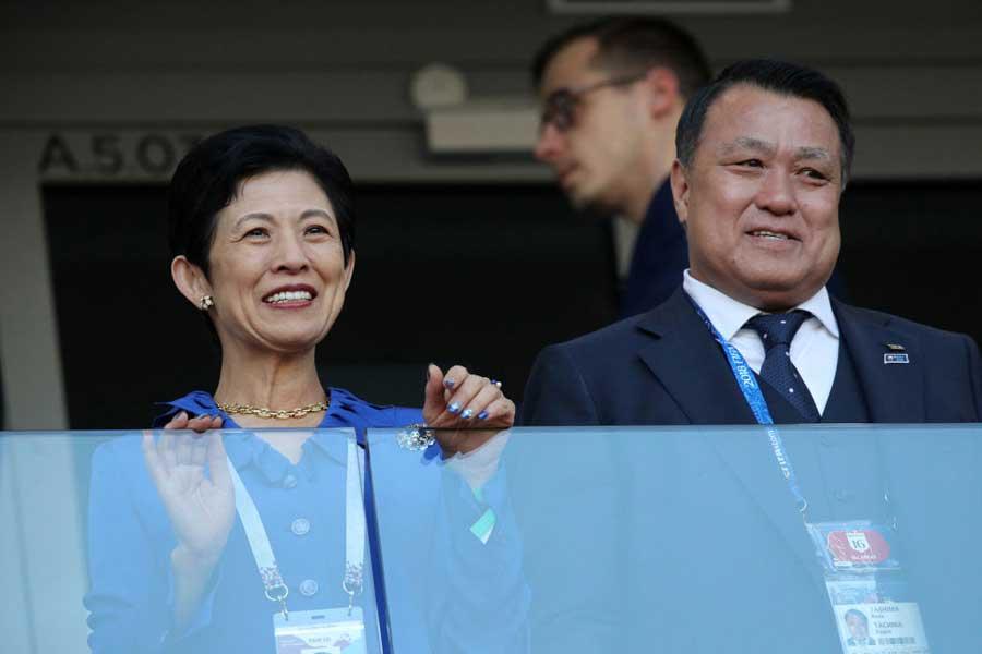 日本サッカー協会の田嶋会長は、西野ジャパンを大絶賛している【写真:Getty Images】