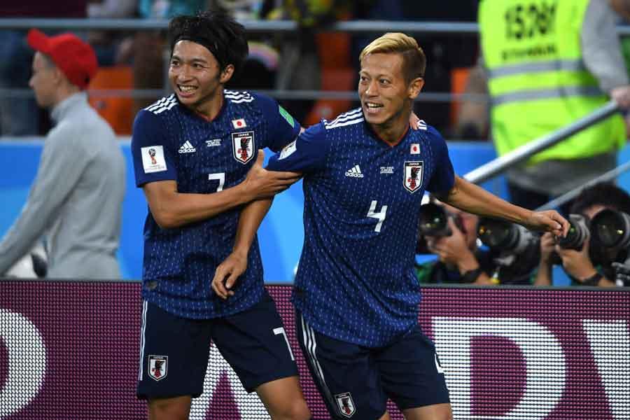 本田のW杯3大会連続弾に海外ファンが熱狂している【写真:Getty Images】