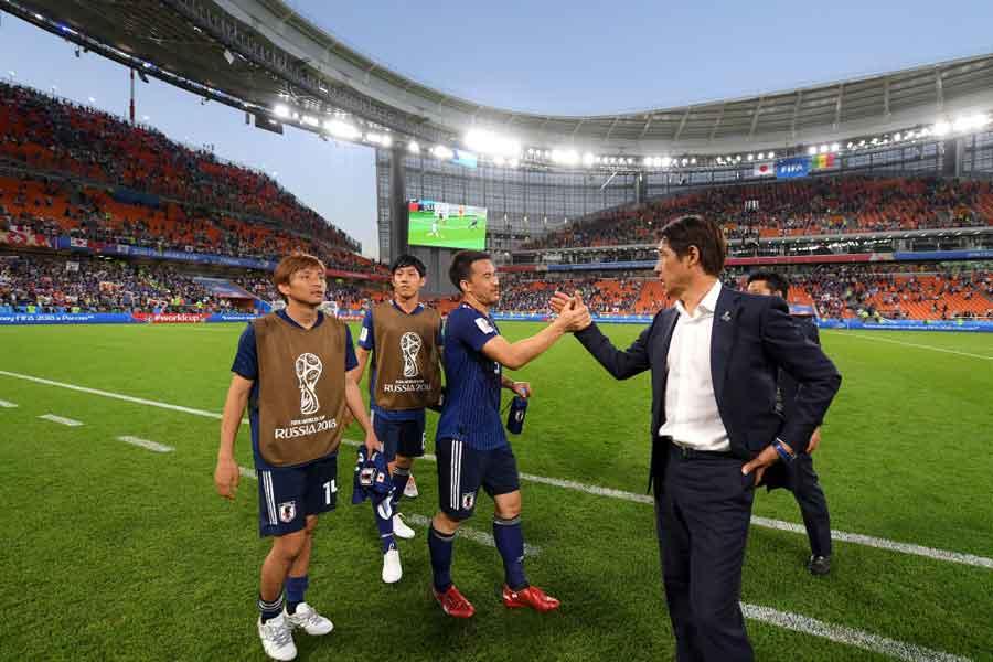 監督交代を乗り越えた西野ジャパンの奮闘を米メディアが高く評価している【写真:Getty Images】