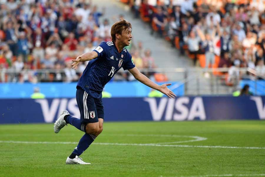 乾のW杯初ゴールで日本が同点に追い付いた【写真:Getty Images】