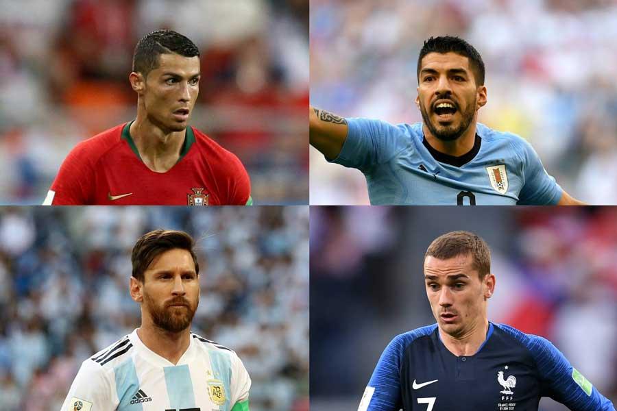 決勝トーナメント1回戦でポルトガル対ウルグアイ、アルゼンチン対フランスの好カードがいきなり実現することになった【写真:Getty Images】