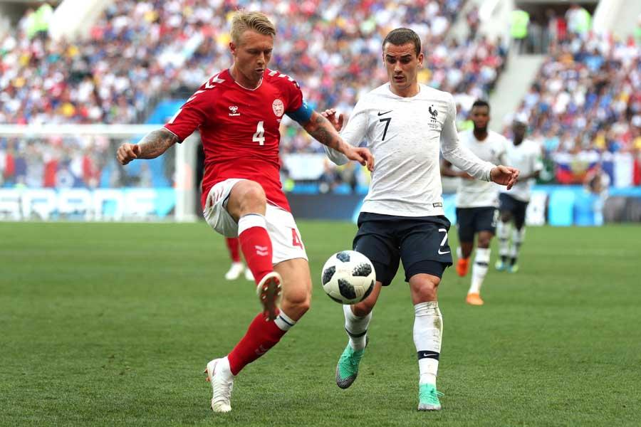 フランス対デンマークは前半を0-0で折り返した【写真:Getty Images】