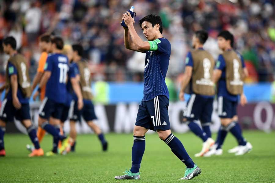長谷部は日本が仕掛けたオフサイドトラップについて、「監督は絶対にかけろと言っていた」と証言している【写真:Getty Images】