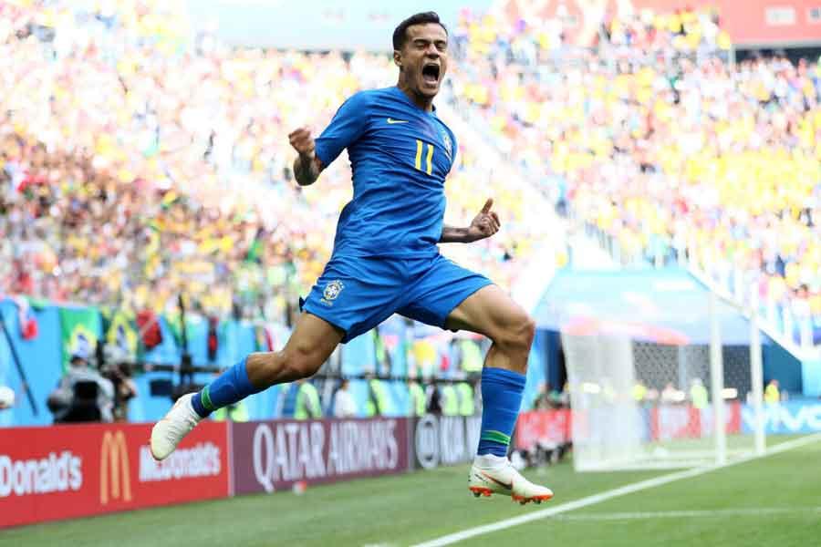元ブラジル代表のカカ氏は、今大会2得点のMFコウチーニョを絶賛している【写真:Getty Images】