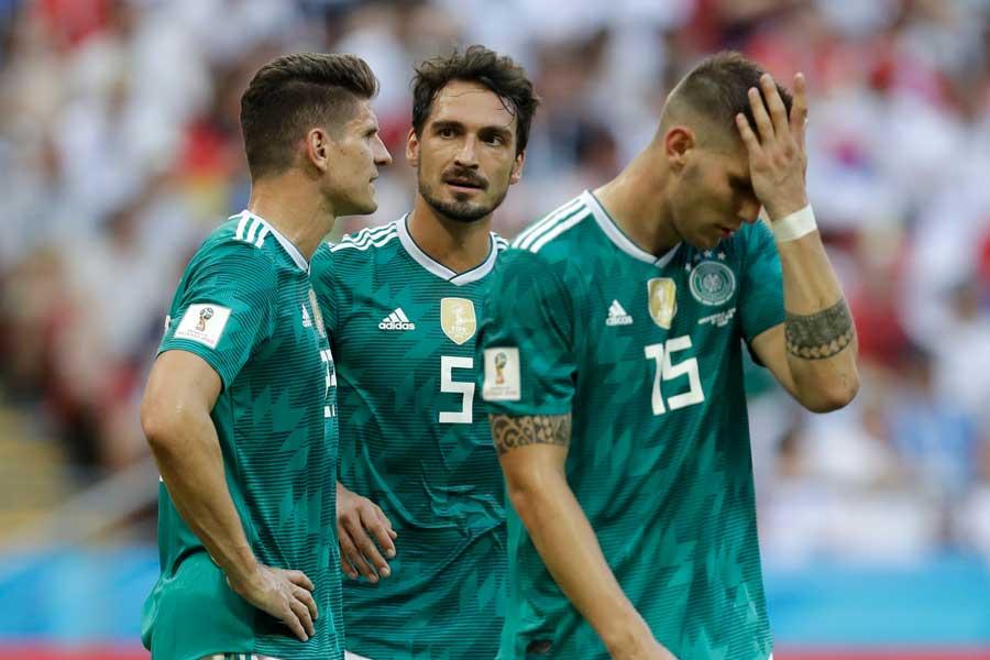 韓国に0-2で敗れ、グループ最下位で敗退が決定したドイツ【写真:AP】