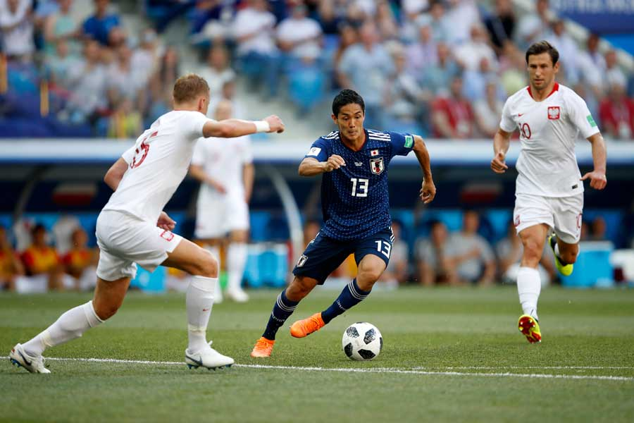 日本対ポーランドは前半を0-0で折り返した【写真:Getty Images】