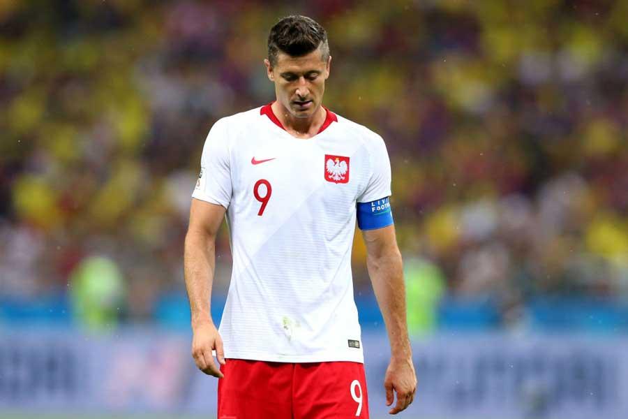 ポーランド代表FWレバンドフスキは2試合にフル出場しているが、未だ無得点となっている【写真:Getty Images】