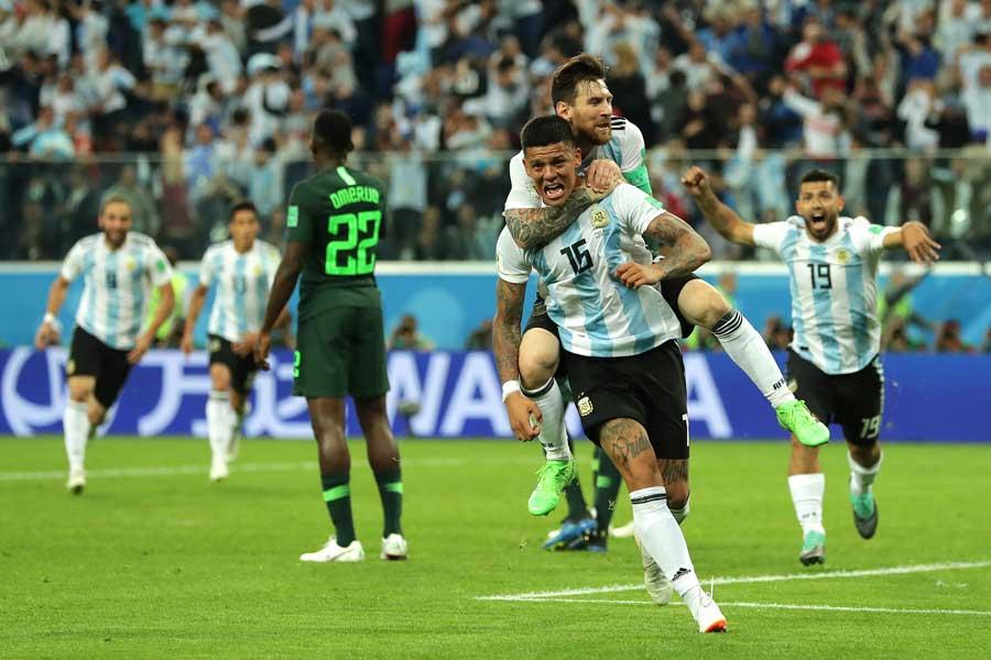 アルゼンチン代表は、ナイジェリア戦で劇的なグループリーグ突破を果たした【写真:Getty Images】