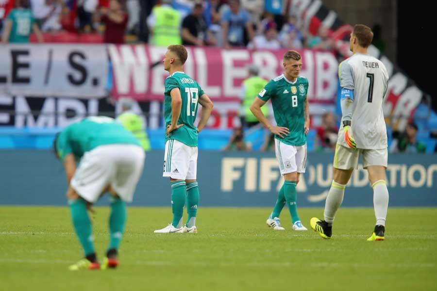 """ドイツ代表のGL敗退という無残な結末を受けたブラジルメディアの""""高笑い""""が話題となっている【写真:Getty Images】"""