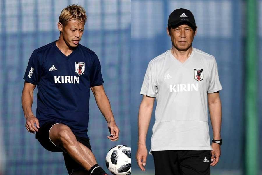 """本田の""""ベルギー弱点""""発言を受けて、西野朗監督は「頼もしいですね」と信頼を寄せている【写真:Getty Images】"""