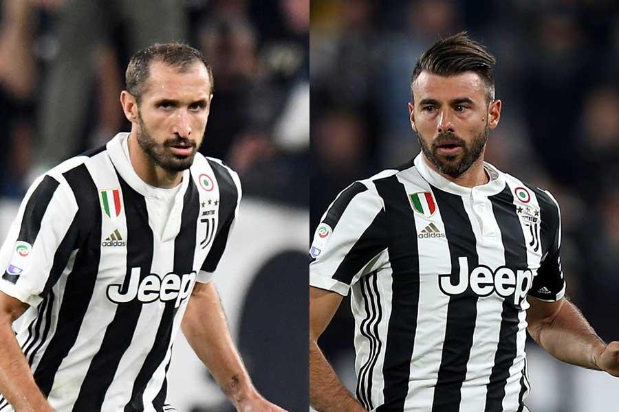 ユベントスはキエッリーニ(左)とバルザーリ(右)の契約更新を正式発表した【写真:Getty Images】