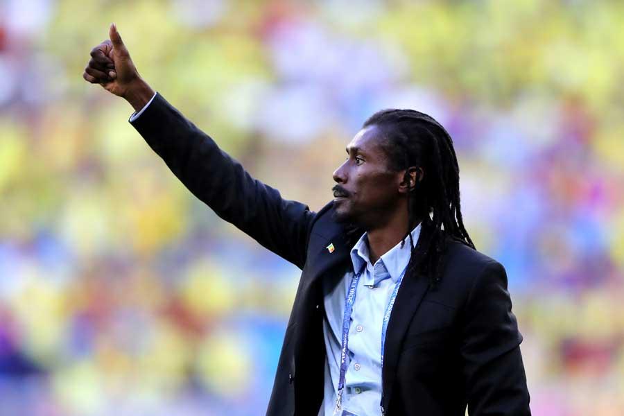 敗退となったセネガルのシセ監督だが、大会への感謝を述べて称賛を集めている【写真:Getty Images】