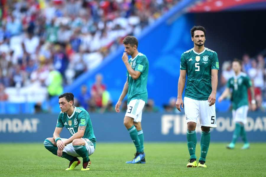 ドイツ代表はグループEで最下位の屈辱を味わった【写真:Getty Images】