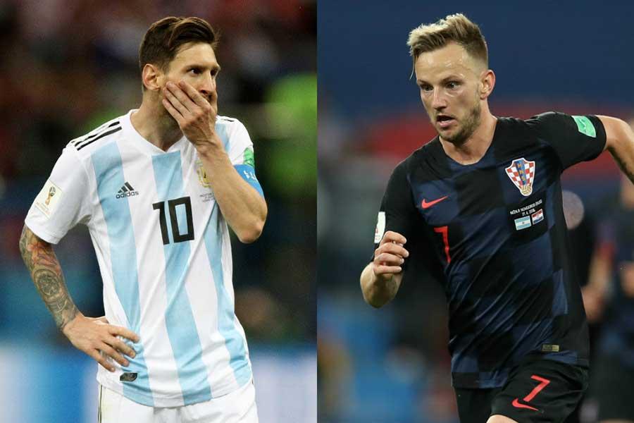 ラキティッチ(右)はバルセロナが送った祝福ツイートに対して「メッシはこれを面白くは思わない」と主張している【写真:Getty Images】