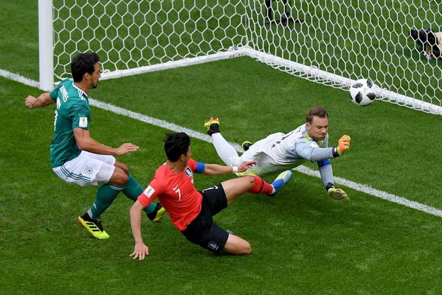 ドイツ vs 韓国、0-0で後半へ【写真:Getty Images】