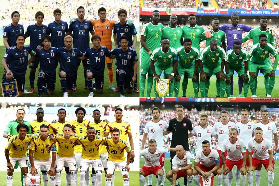 ロシアW杯・グループH組に属する日本、セネガル、コロンビア、ポーランド【写真:Getty Images】