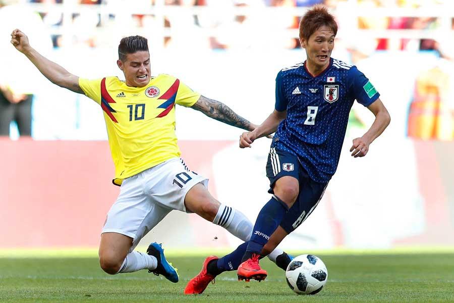 日本がコロンビアを撃破できた要因とは【写真:AP】